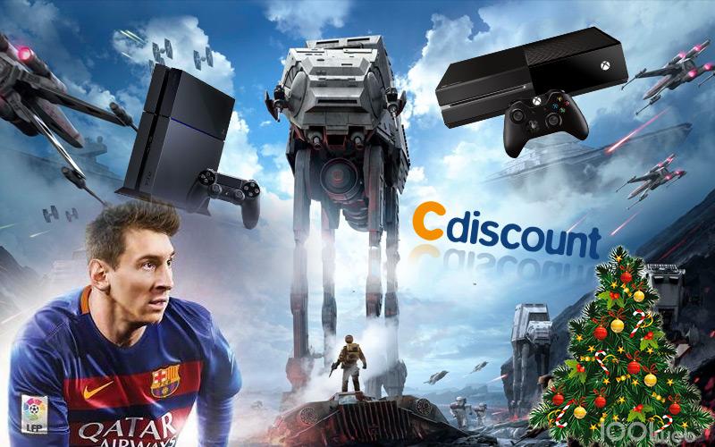 cdiscount casse les prix sur jeux video ps xbox one  et wii u pour noel