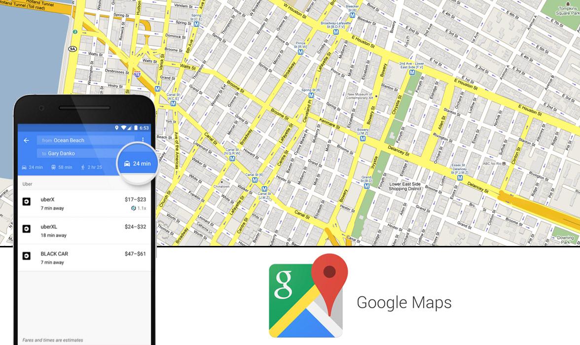 google map une nouvelle option pour r server un taxi. Black Bedroom Furniture Sets. Home Design Ideas